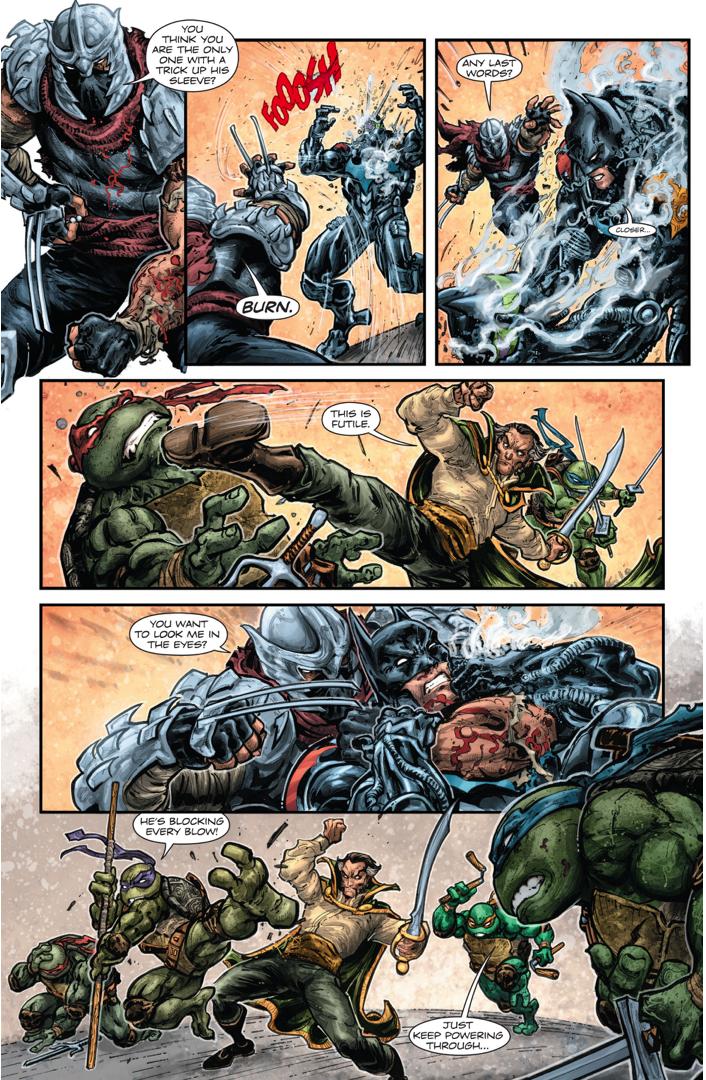 Batman (Intimidator Suit) VS The Shredder