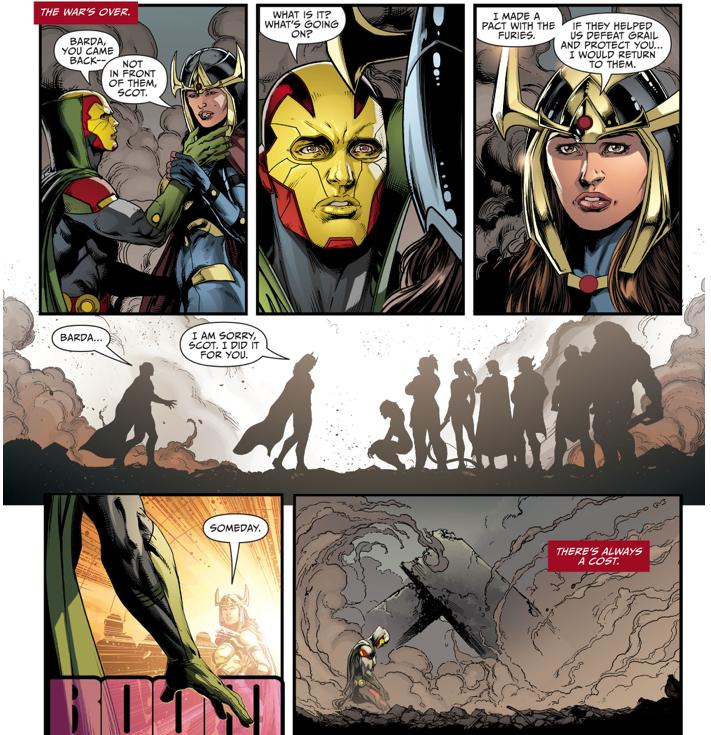Big Barda And The Furies VS Darkseid (Darkseid War)