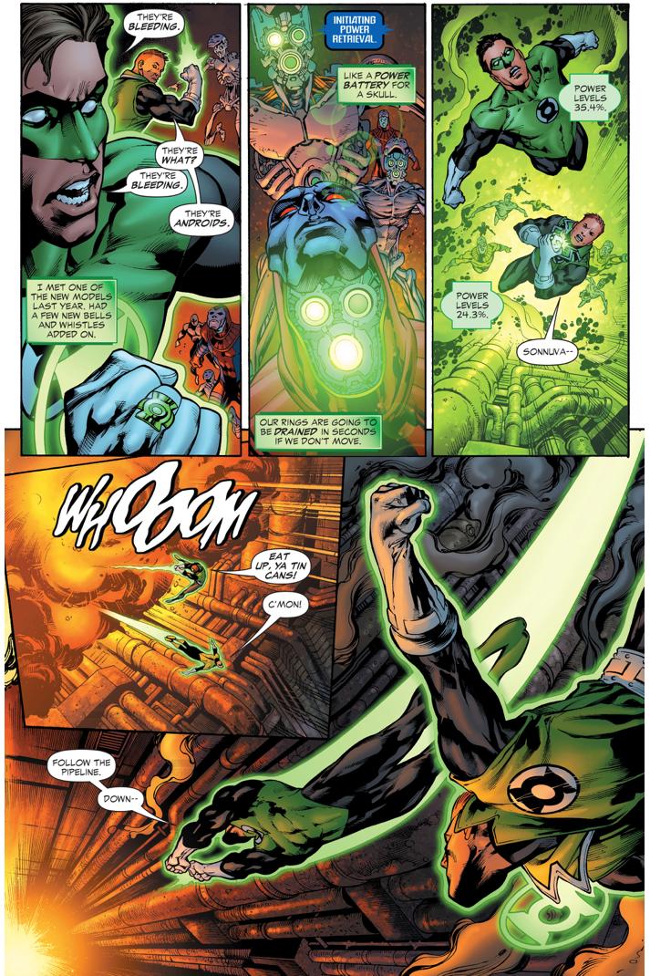 Hal Jordan And Guy Gardner Finds The Lost Lanterns
