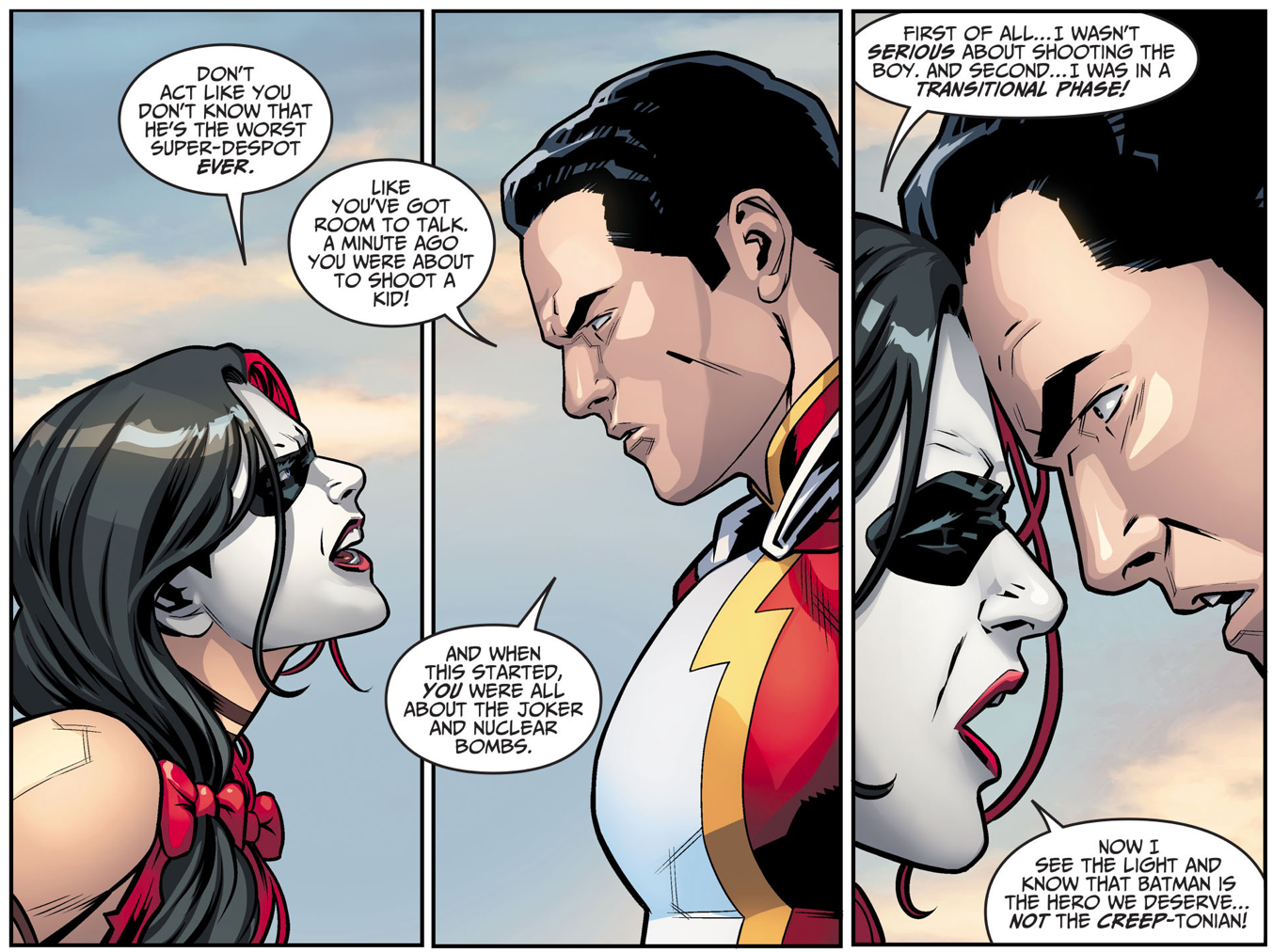 Harley Quinn Challenges Shazam To A Fight (Injustice Gods Among Us)