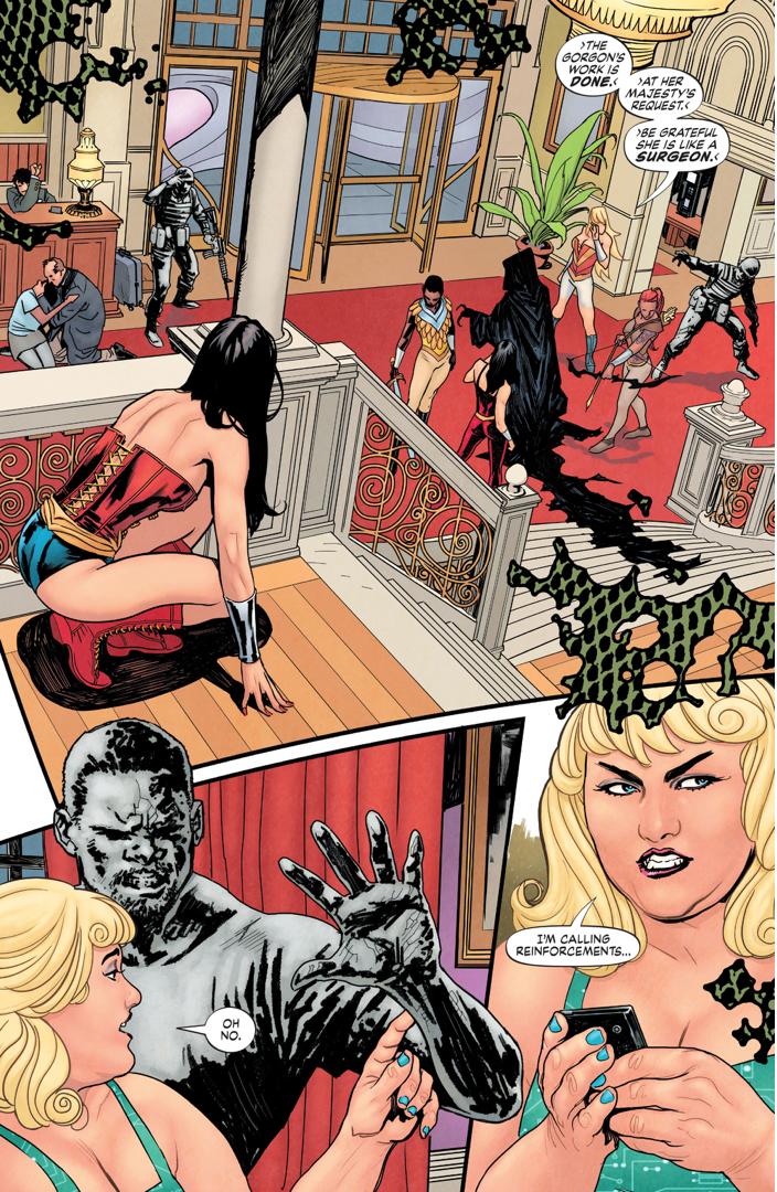 Medusa Attacks Steve Trevor (Earth 1)