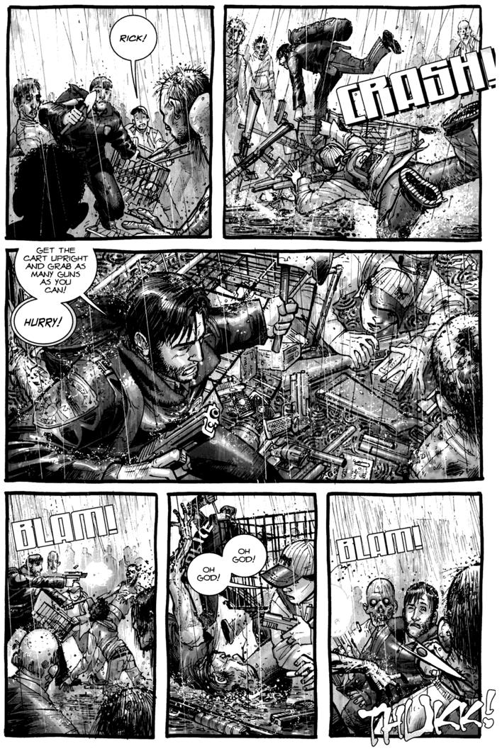 Rick Grimes And Glenn Rhee VS Walkers (The Walking Dead #4)