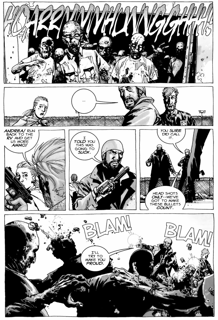 Rick Grimes, Tyreese And Andrea Clears Out The Prison (The Walking Dead)