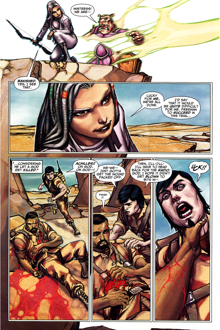 Sabina Kills Achilles (Trials Of Shazam)