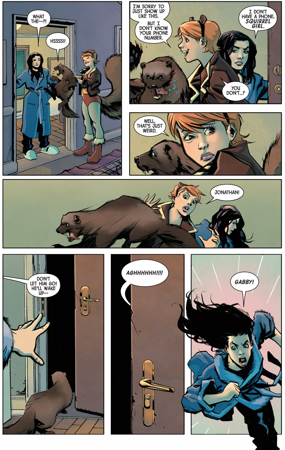 squirrel girl gives wolverine a wolverine