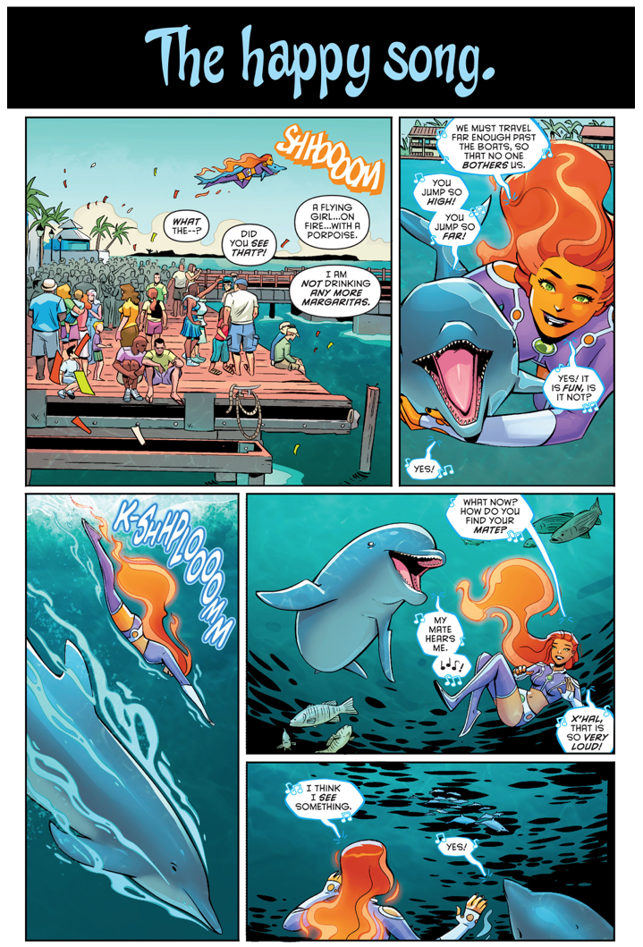 Starfire Rescues A Dolphin