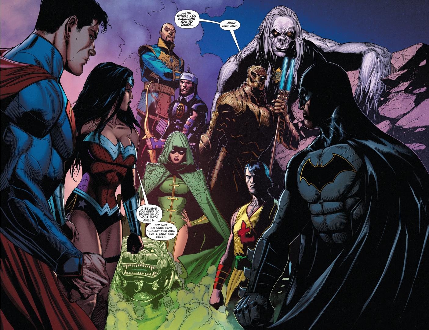 Superman, Batman And Wonder Woman VS The Great Ten