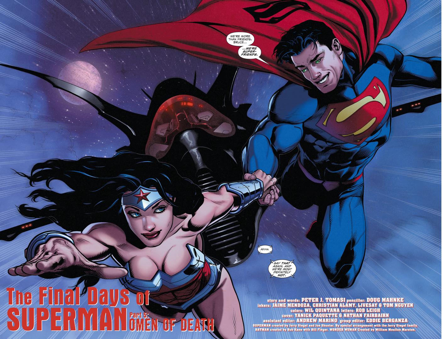 Superman Calls Batman His Super Friend