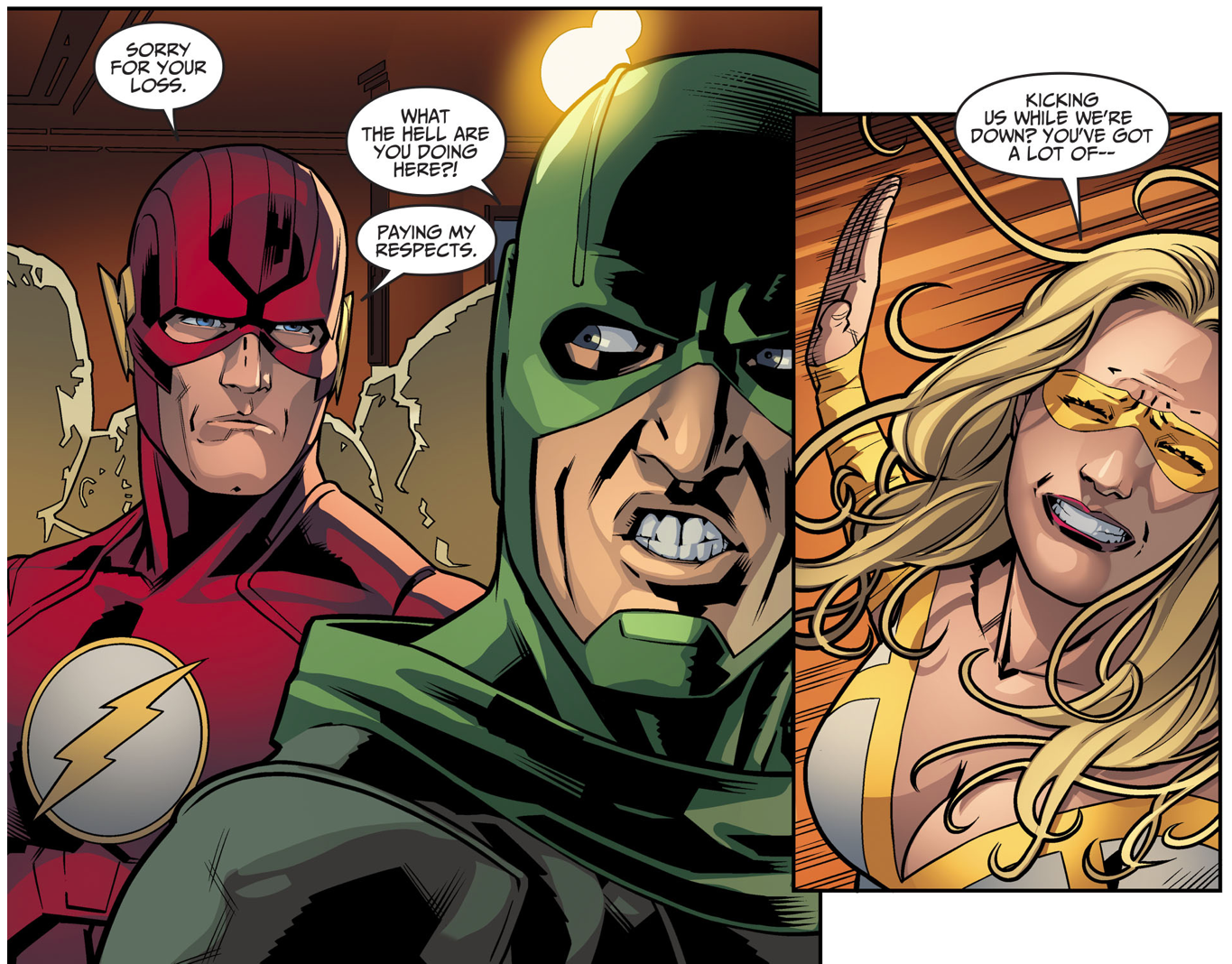 The Flash Pays His Respects To Heatwave And Weather Wizard (Injustice Gods Among Us)