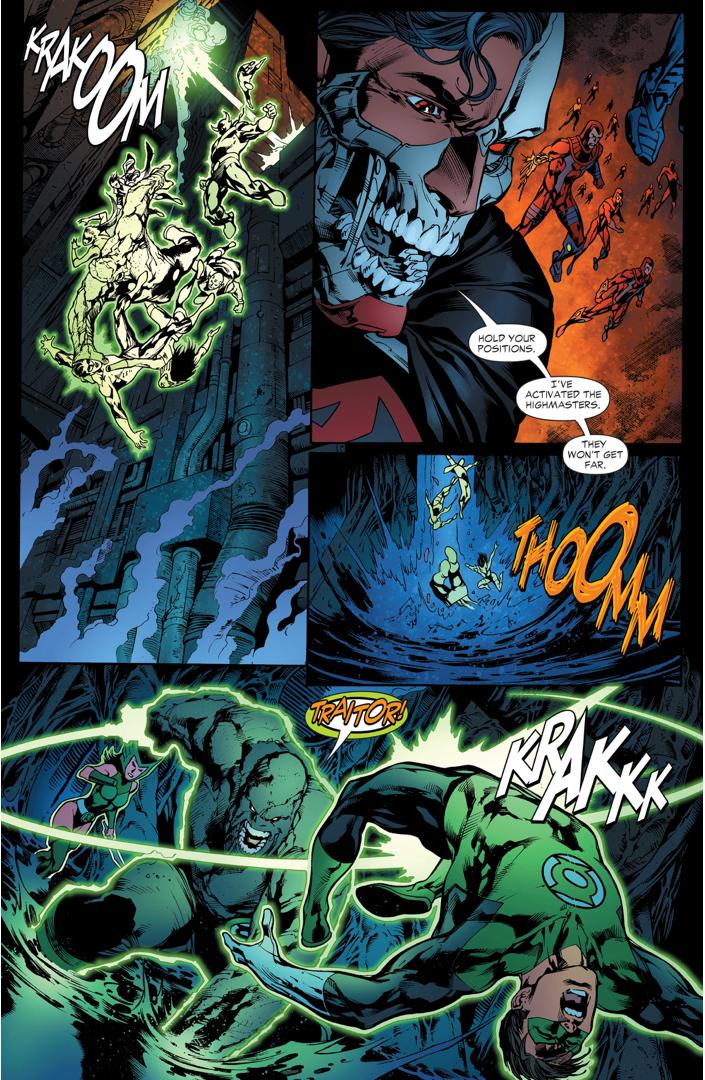 The Lost Lanterns Attack Green Lantern Hal Jordan