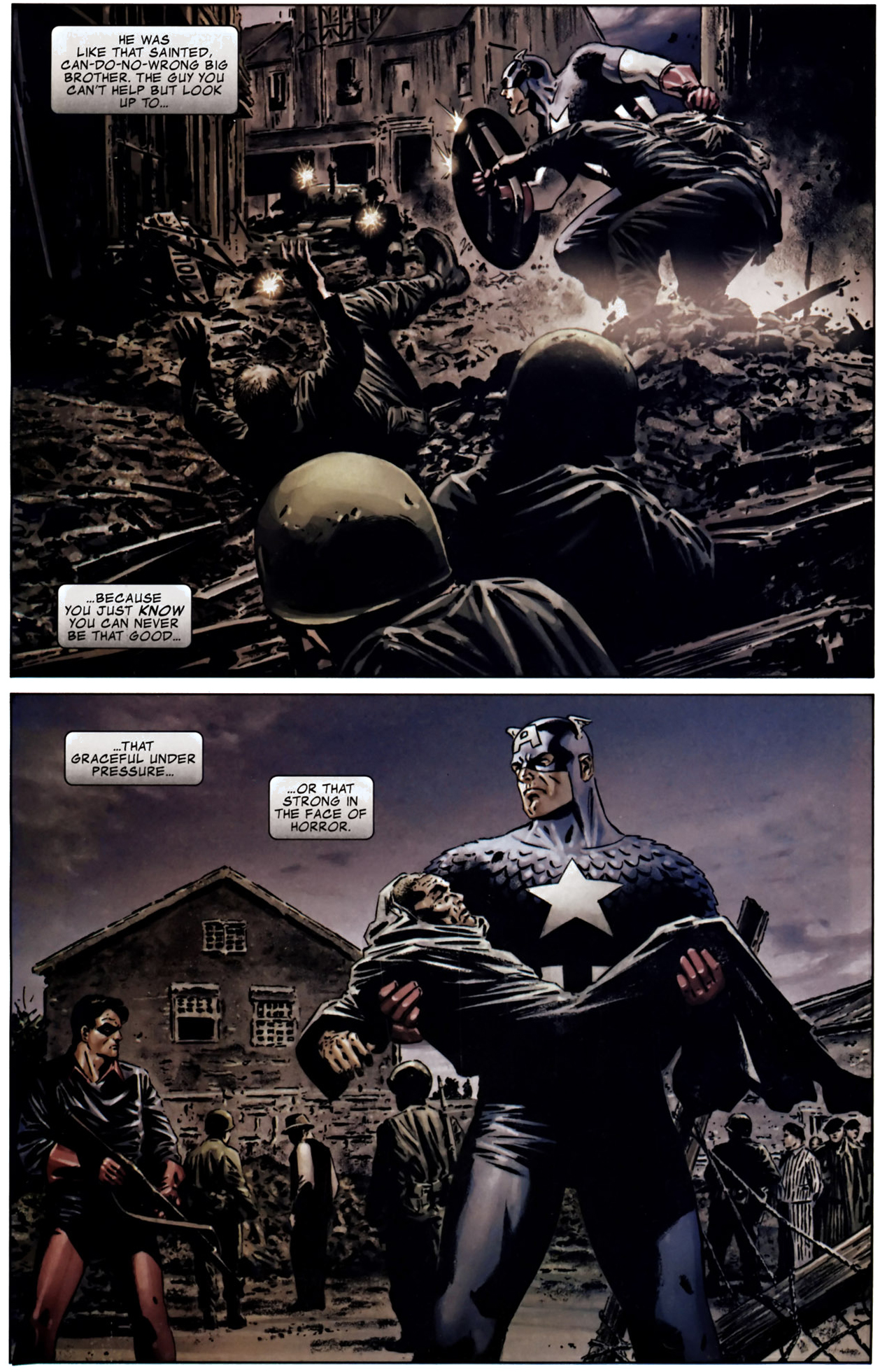 winter soldier's thoughts on captain america