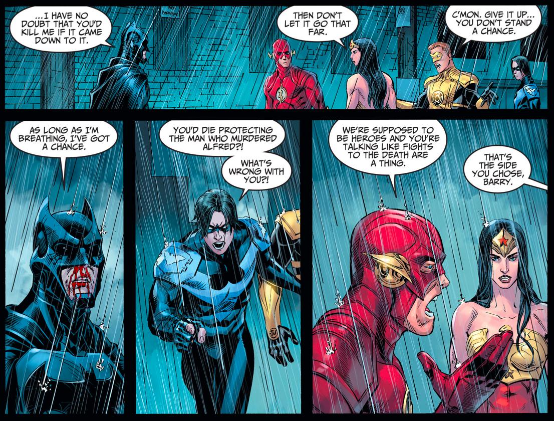 Batman VS Yellow Lantern (Hal Jordan) And Wonder Woman (Injustice Gods Among Us)
