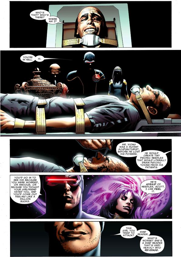 Cyclops Tortures A Hellfire Cult Member