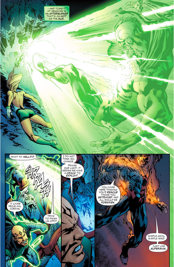 Green Lantern Hal Jordan And Arisia VS Cyborg-Superman