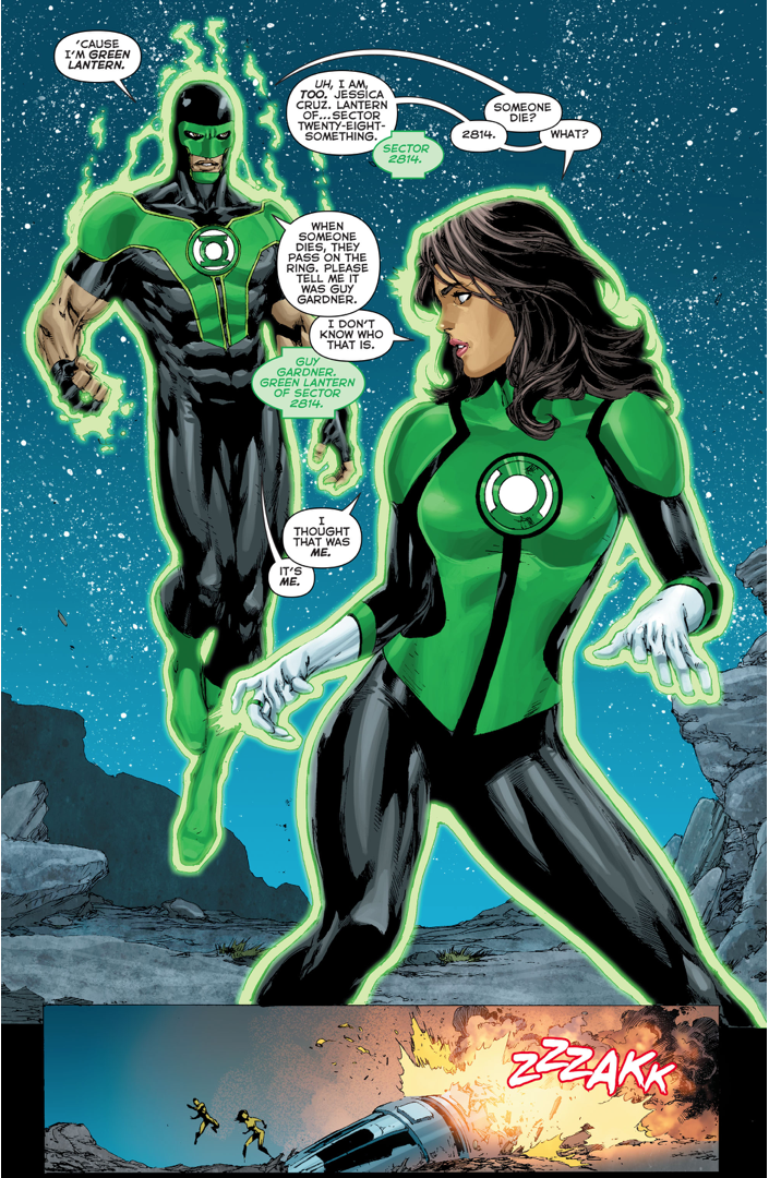 Green Lantern Simon Baz's First Meeting With Jessica Cruz
