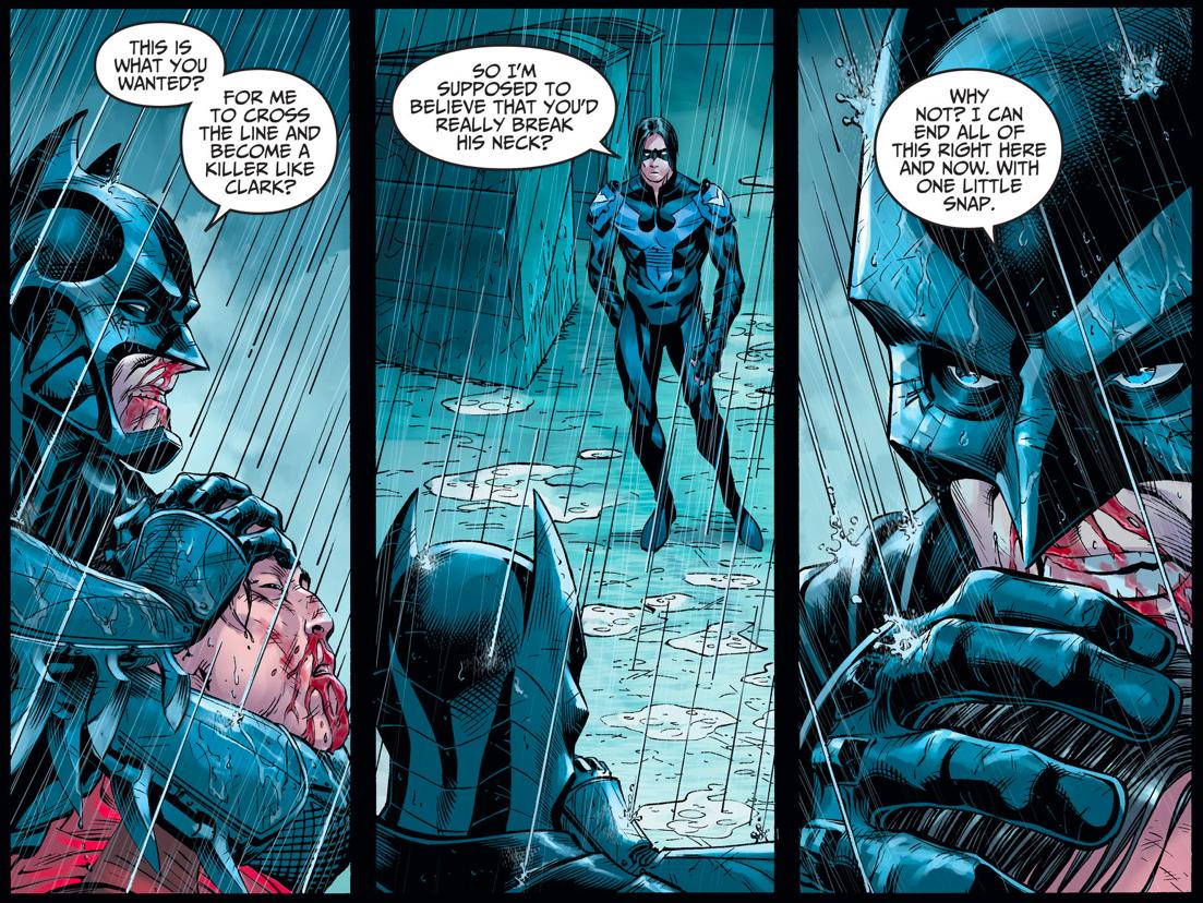 Nightwing (Damian Wayne) Tries To Kill Batman (Injustice Gods Among Us)