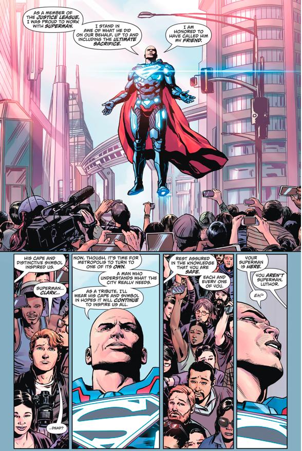 Pre-Flashpoint Superman Confronts Lex Luthor