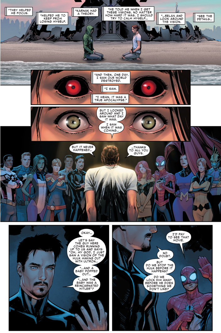 Reason For Civil War II Between Iron Man And Captain Marvel