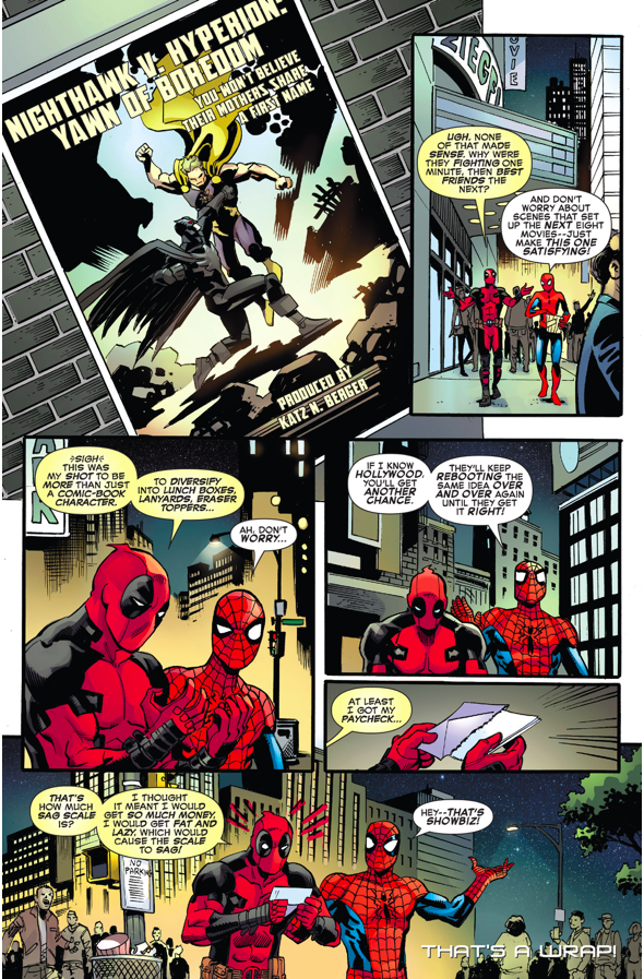 Spider-man And Deadpool Throws Shade At Batman VS Superman