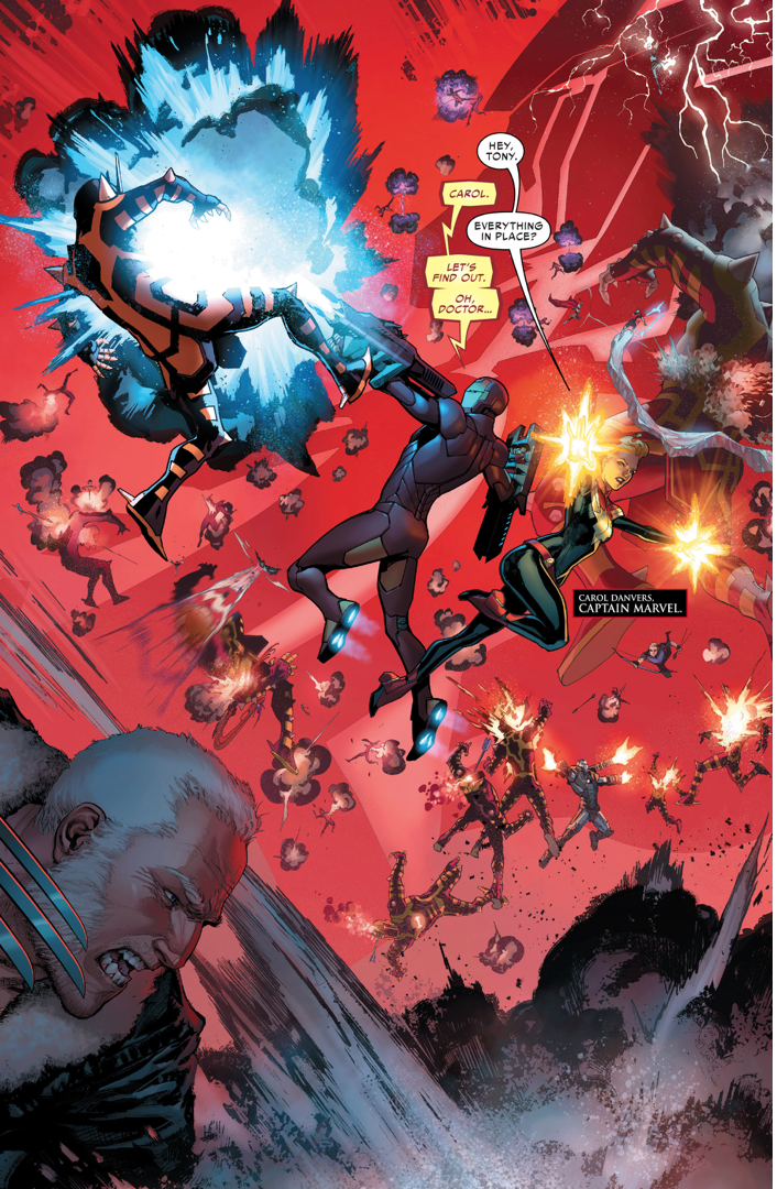 The Avengers, X-Men, Ultimates And Inhumans VS A Celestial