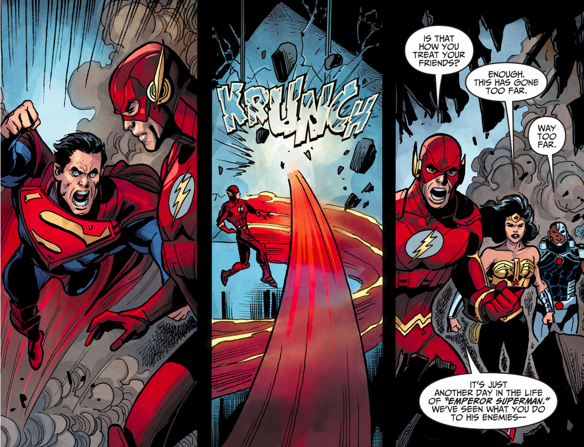 The Flash Stands Up To Superman (Injustice Gods Among Us)