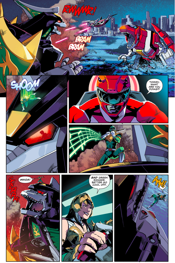 The Green Ranger Takes Back The Dragonzord From Scorpina