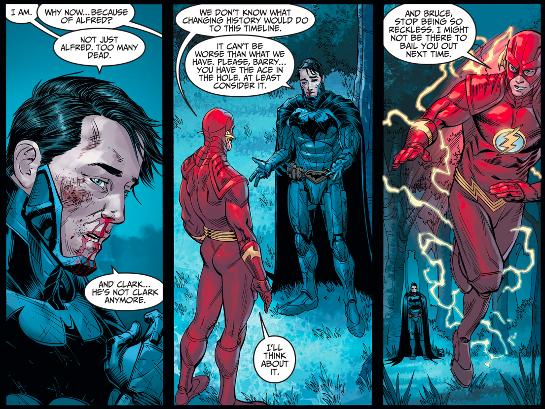 Why Batman Wants The Flash To Change The Past (Injustice Gods Among Us)