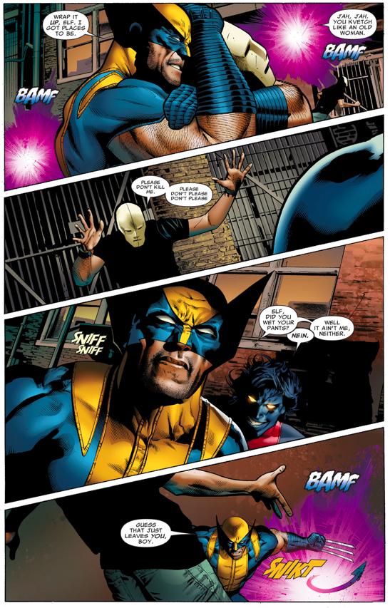 Wolverine And Nightcrawler VS Hellfire Cult Members