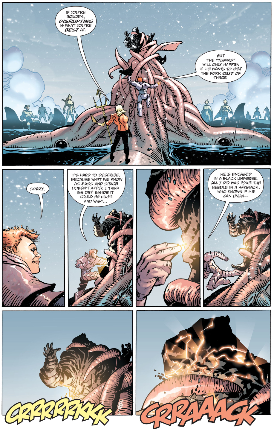 aquaman and batgirl saves superman (the master race)