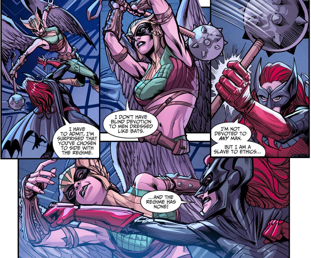 Batman And Batwoman VS Cyborg And Hawkgirl (Injustice Gods Among Us)
