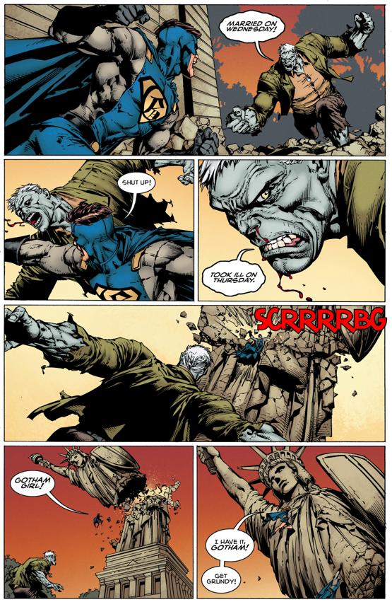 Batman, Gotham And Gotham Girl VS Solomon Grundy