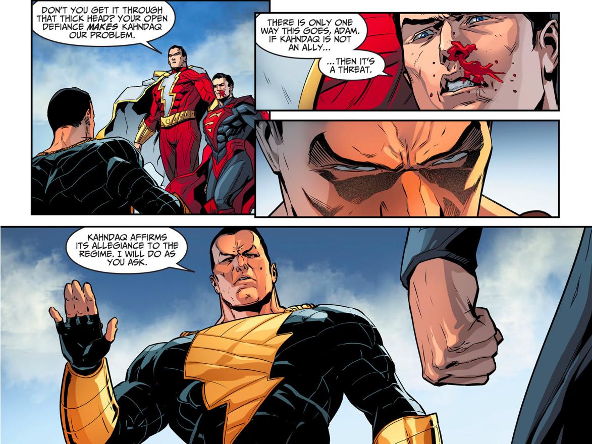 Black Adam Swears Allegiance To Superman's Regime