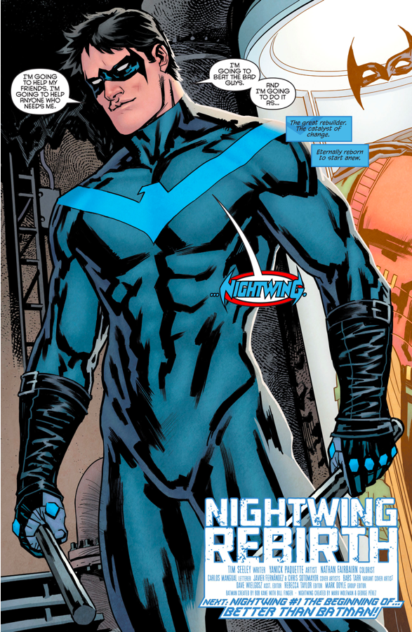 Dick Grayson Returns As Nightwing (Nightwing - Rebirth)