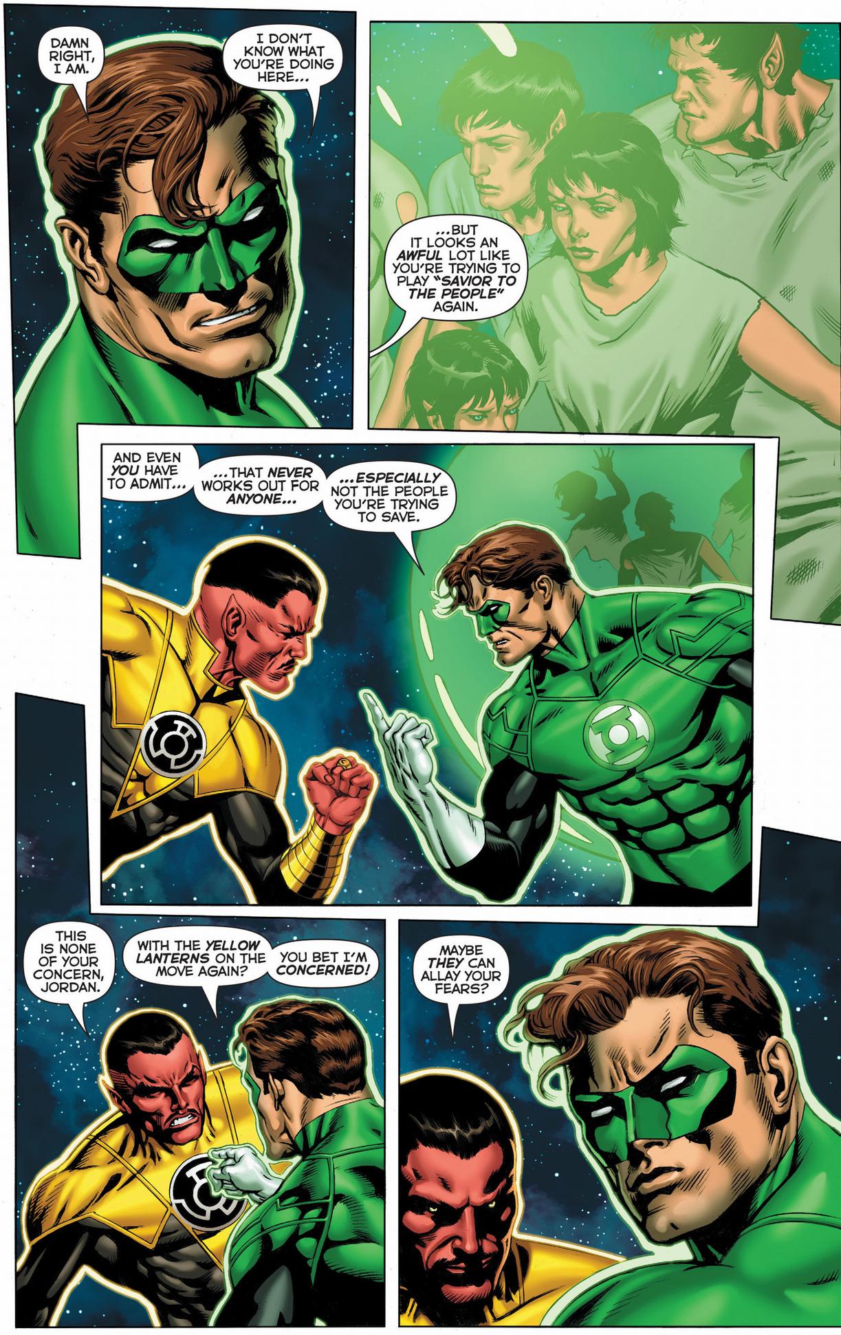 green lantern hal jordan vs sinestro's elite guard
