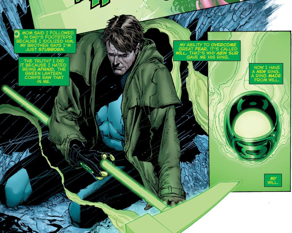 hal jordan crafts his own green lantern ring