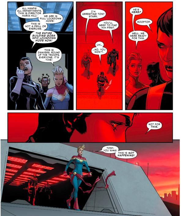 Iron Man And Captain Marvel's Teams (Civil War II)