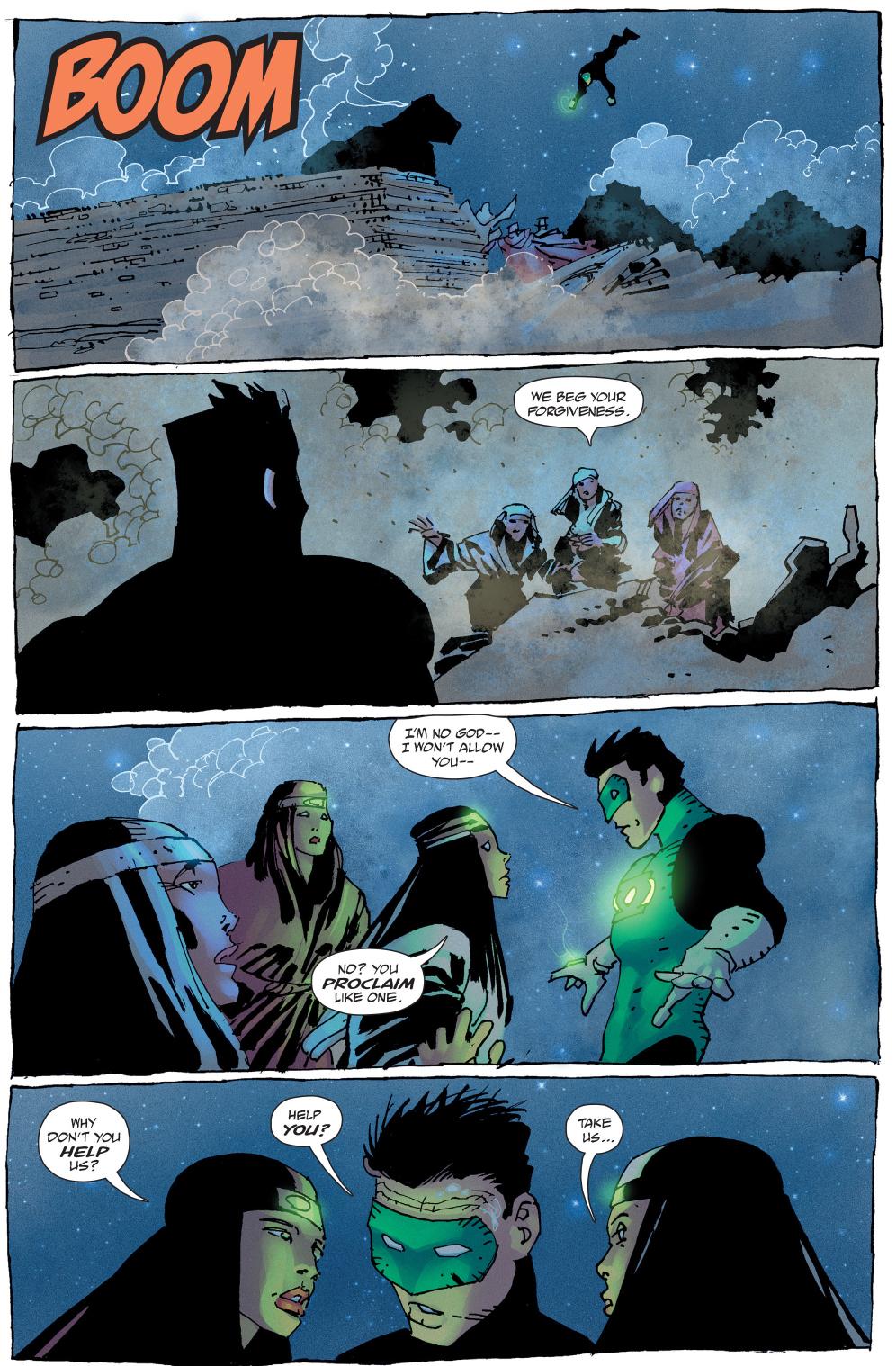 quar's wives takes down green lantern (the master race)