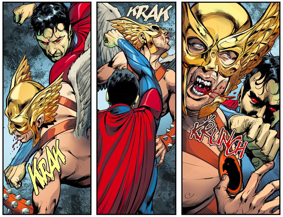 Superman Kills Hawkman (Injustice Gods Among Us)
