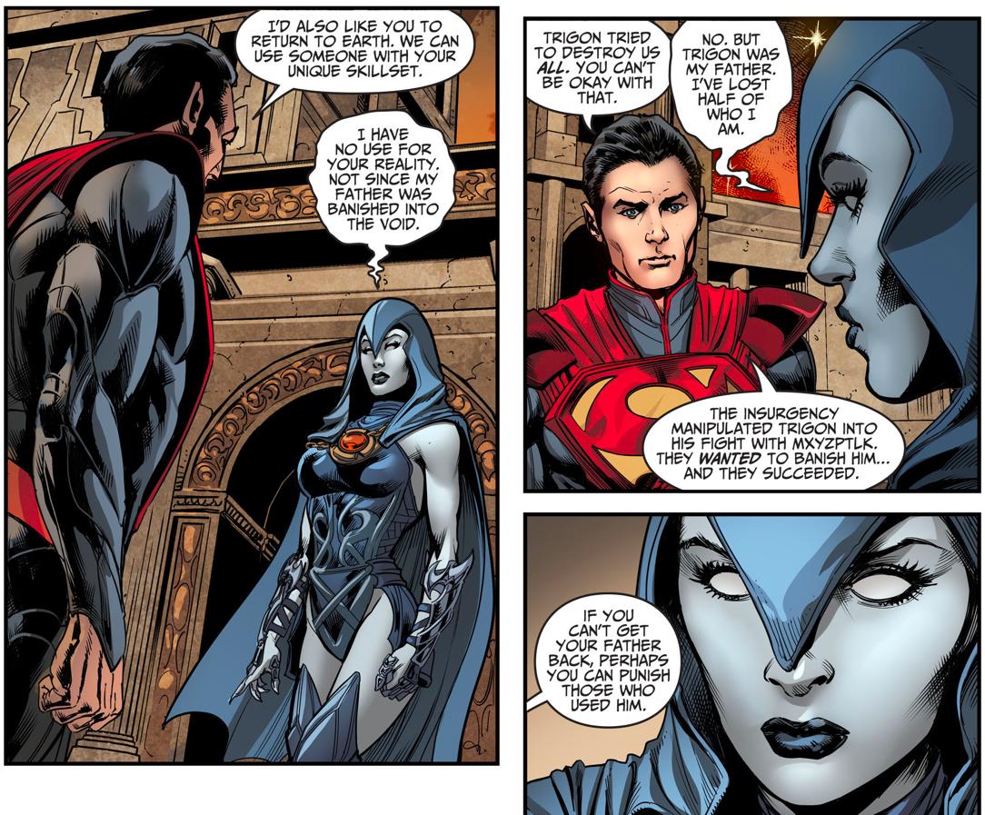 Superman Recruits Raven (Injustice Gods Among Us)