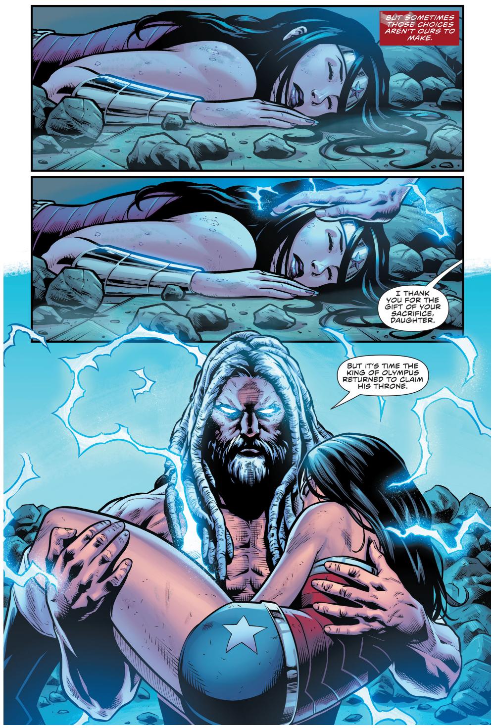 Wonder Woman Saves Zeus's Life