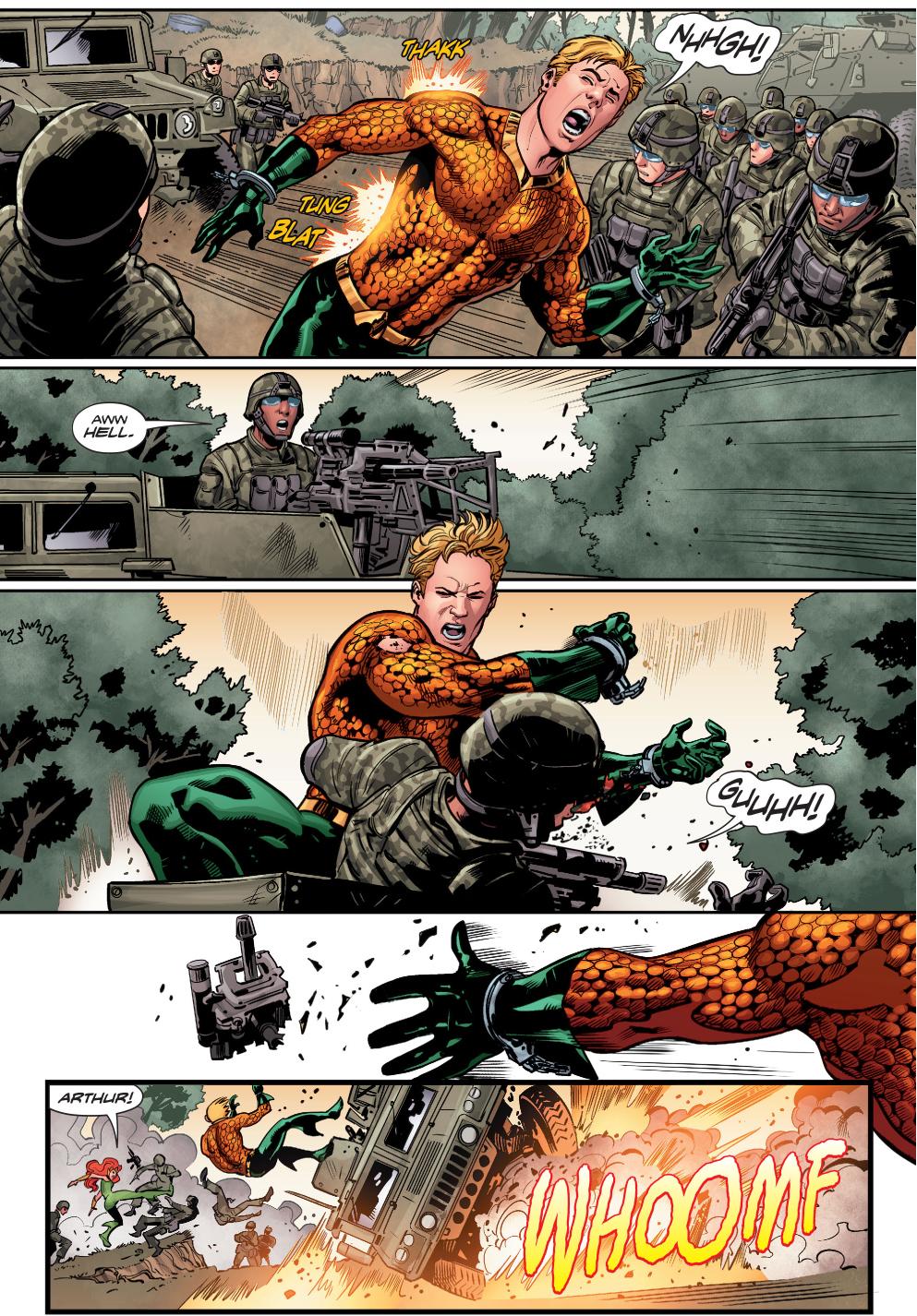 Aquaman And Mera VS The United States Military