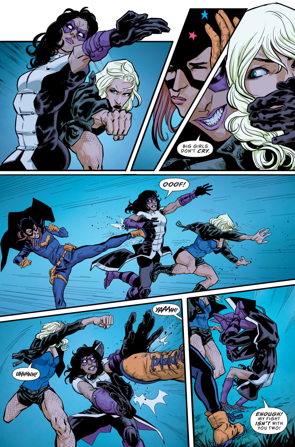 Batgirl And Black Canary VS The Huntress (Rebirth)