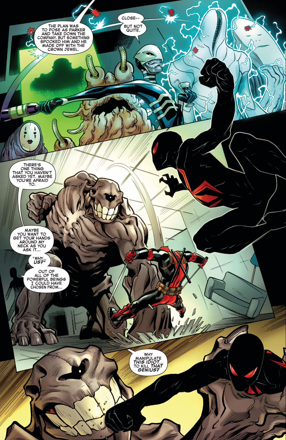 Deadpool And Spider-Man VS Patient Zero's Creatures