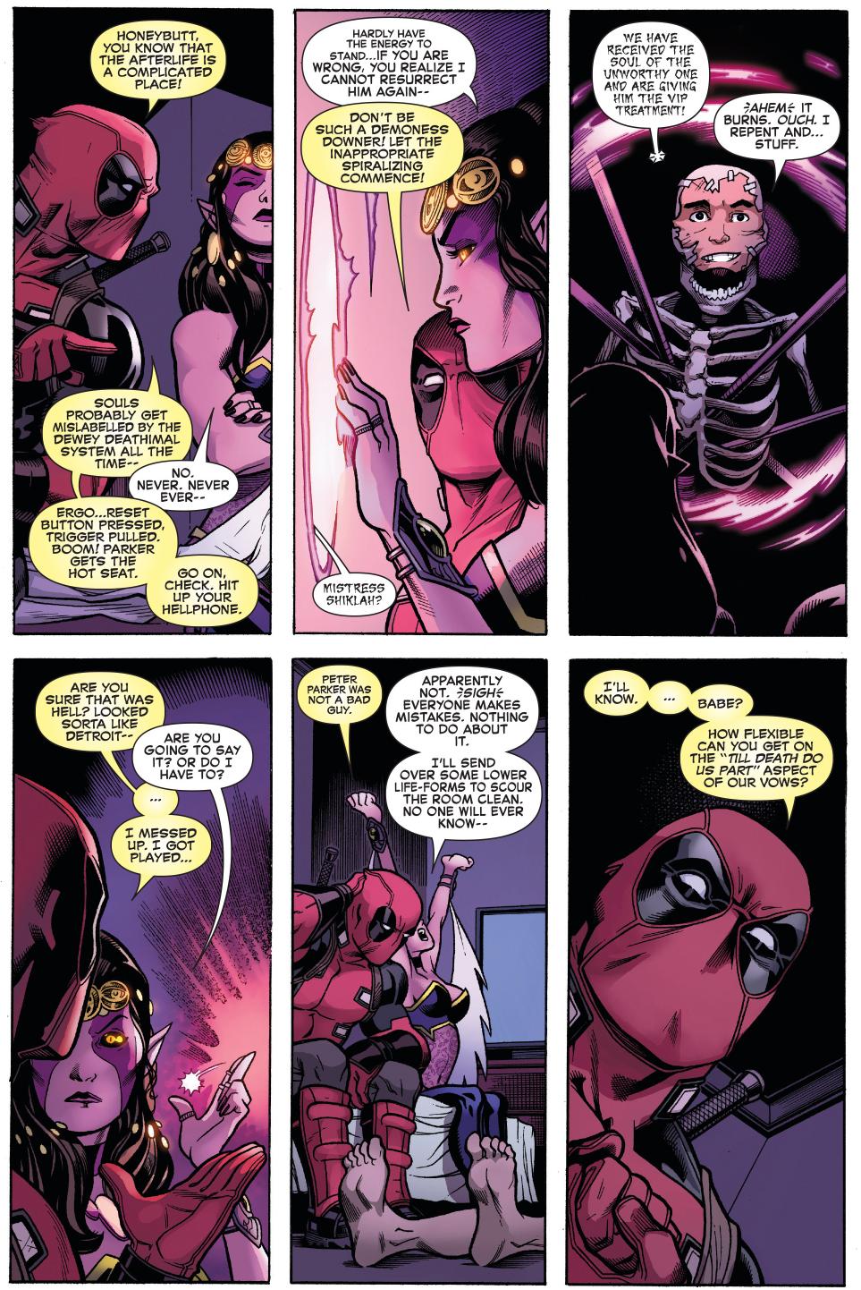 Deadpool Shoots Peter Parker With A Shotgun