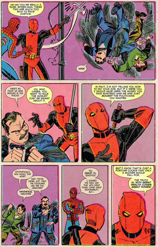 deadpool teaches spider-man about the real world