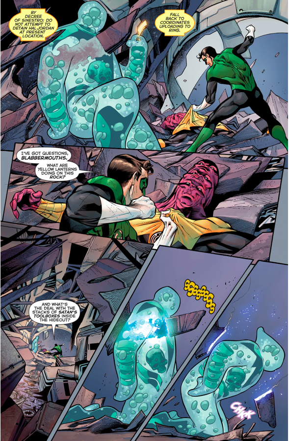 Green Lantern Hal Jordan VS Maash And Slushh