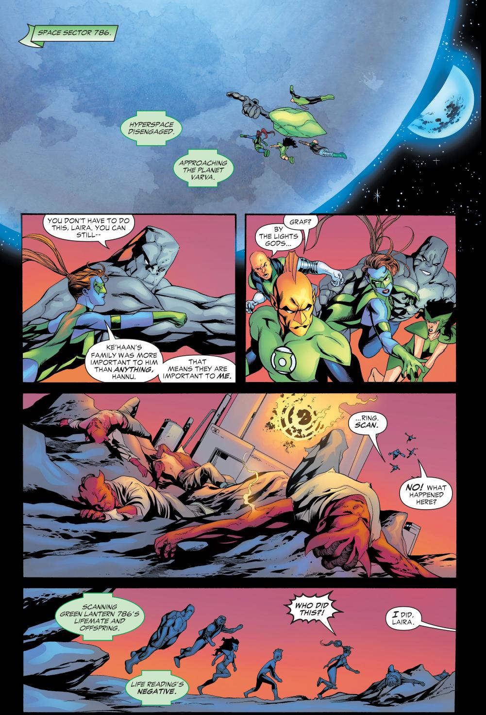 Green Lantern Laira Kills Sinestro Corps Amon Sur