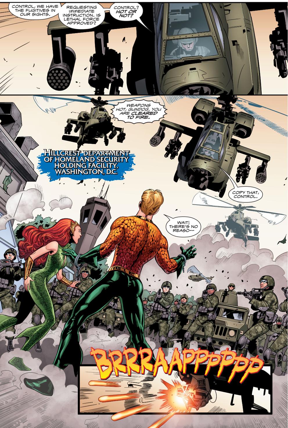 The United States Military Attacks Aquaman And Mera