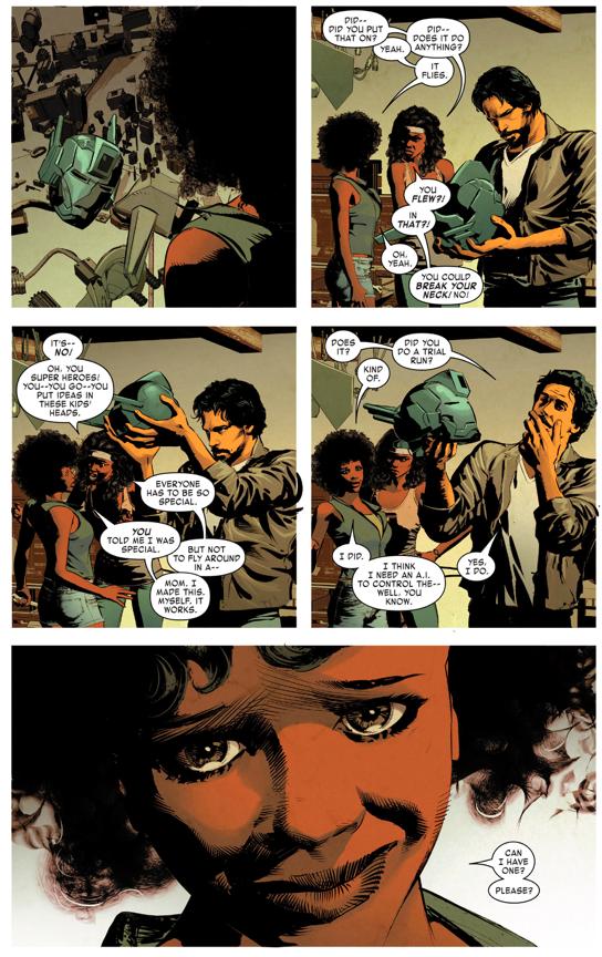 Tony Stark Meets Riri Williams