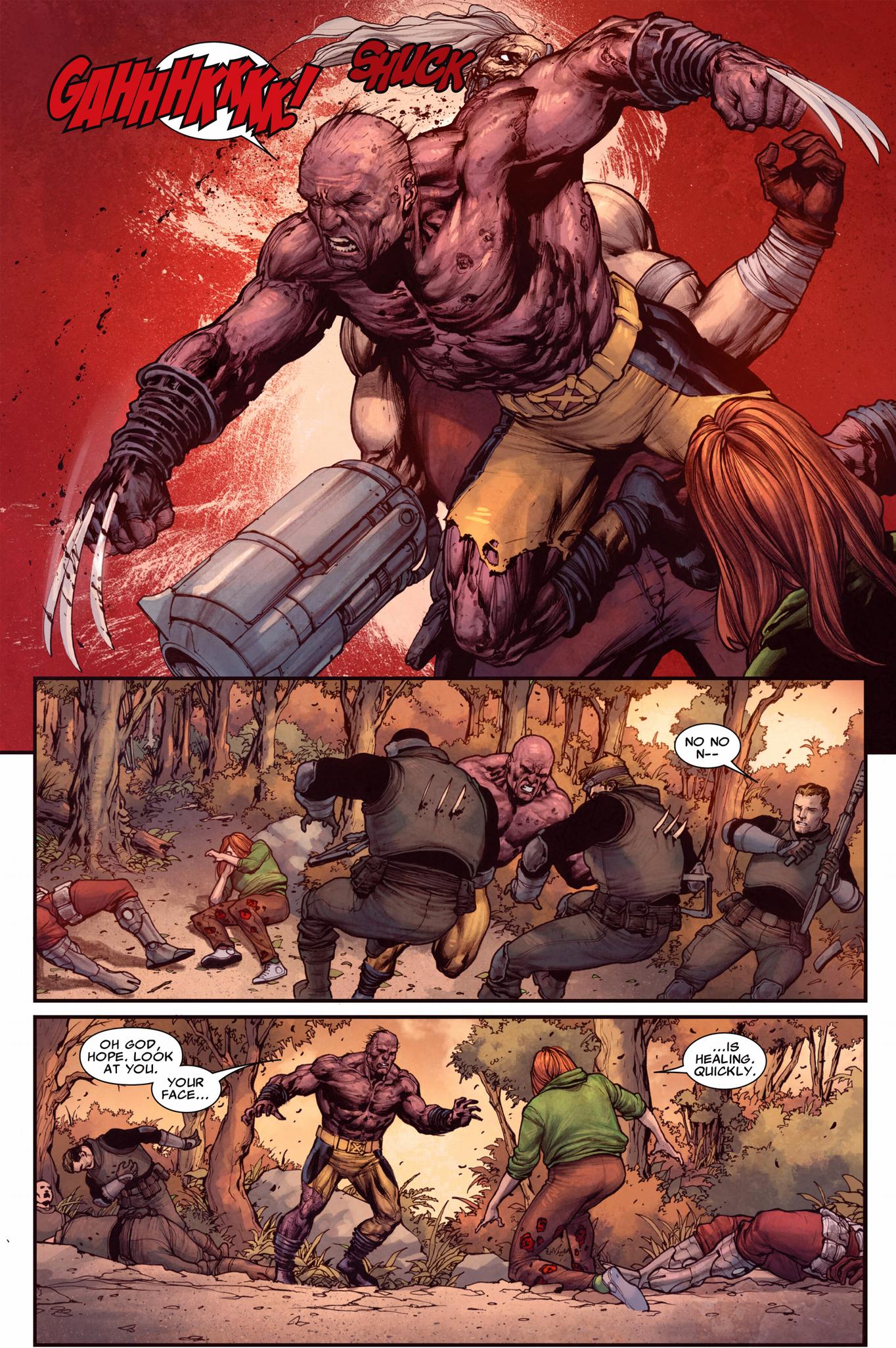 wolverine kills crimson commando